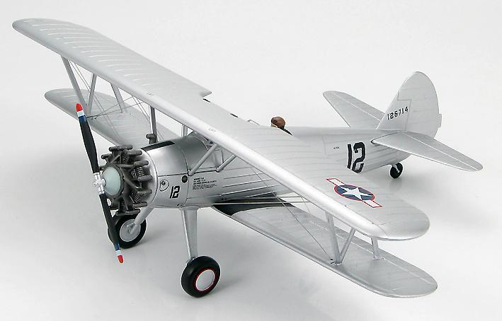 Boeing PT-17 Stearman 41-25714, Ejército USA, fabricado en 1942 , 1:48, Hobby Master