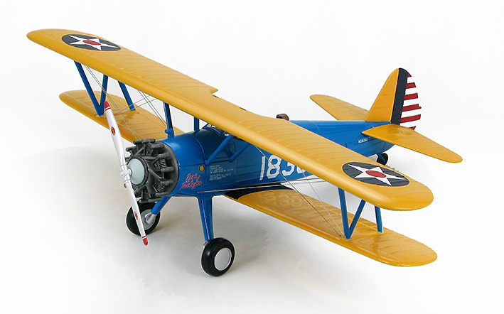 Boeing Stearman Kaydet Trainer 18303, Tuskegee Airmen, 1:48, Hobby Master