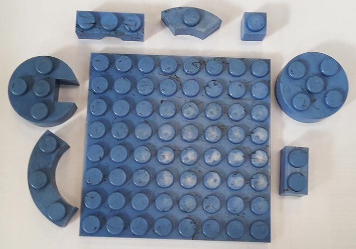 Bolsas medio kilo piezas color azul, Exin Castillos