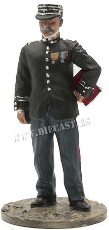 Bombero, Oficial con traje de gala, Francia, 1930, 1:30, Del Prado