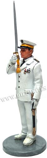 Oficial bombero con traje de gala, Marsella, Francia 1982, 1:30, Del Prado