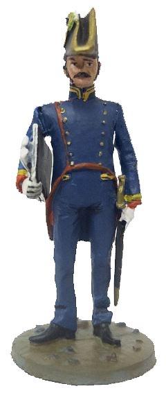 Bombero Ingeniero con uniforme ceremonial, Nápoles, Italia, 1806, 1:30, Del Prado