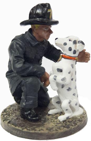 Bombero con perro Dálmata, San Francisco, EEUU, 1930, 1:30, Del Prado