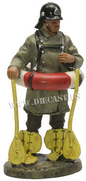 Bombero con salvavidas, Alemania 1900, 1:30, Del Prado