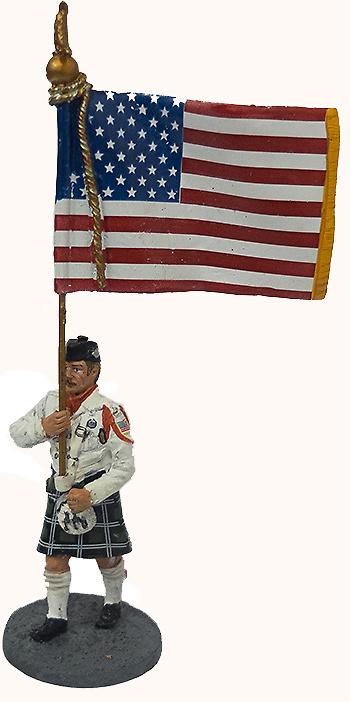 Bombero con traje ceremonial, EEUU, 2003, 1:30, Del Prado