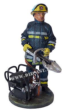 Bombero con traje ignífugo, Dublín, República de Irlanda, 2002, 1:30, Del Prado