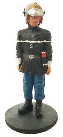 Bombero con traje ignífugo, París, 1988, 1:30, Del Prado