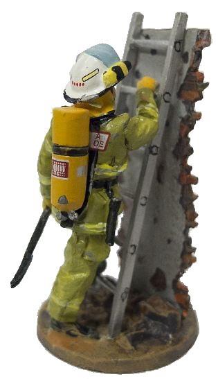 Bombero con traje ignífugo con escalera, Hobart, Austria, 2003, 1:30, Del Prado
