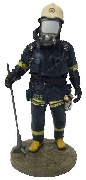 Bombero con traje ignífugo de Estocolmo, Suecia, 2002, 1:30, Del Prado