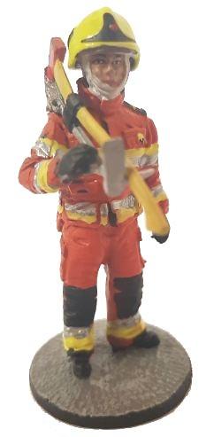 Bombero con traje ignífugo experimental de estructuras, 2008, 1:30, Del Prado