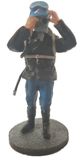 Bombero con traje ignífugo y equipo respiratorio, Marsella, Francia, 1982, 1:30, Del Prado
