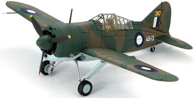 Brewster Buffalo Model 339-23 A51-13, 25 Sqn RAAF, 1:48, Hobby Master