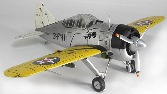 Brewster F2A-2 Buffalo, USN VF-3, 3-F-11, USS Saratoga, 1:48, Hobby Master