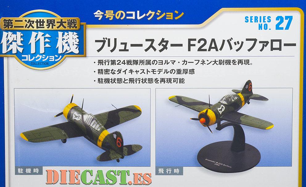 Brewster F2A Buffalo, US Navy, 1:72, DeAgostini