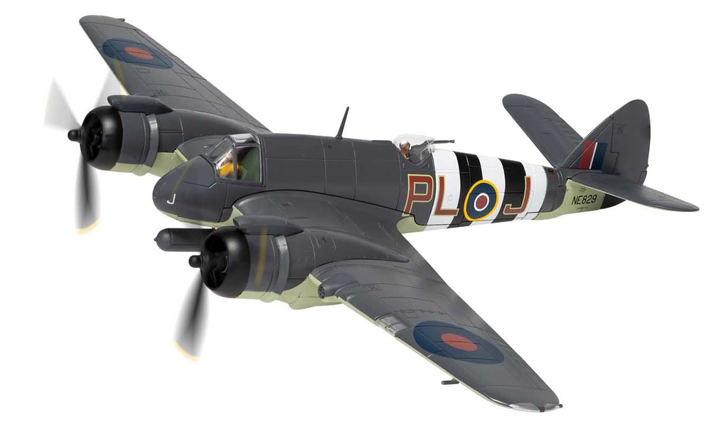 Bristol Beaufighter TF.X, RAF No.144 Squadron, Banff, Escocia, Octubre, 1944, 1:72, Corgi