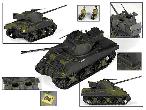 British Sherman Firefly Vc with 17 Pounder, 1:32, 21st Century Toys