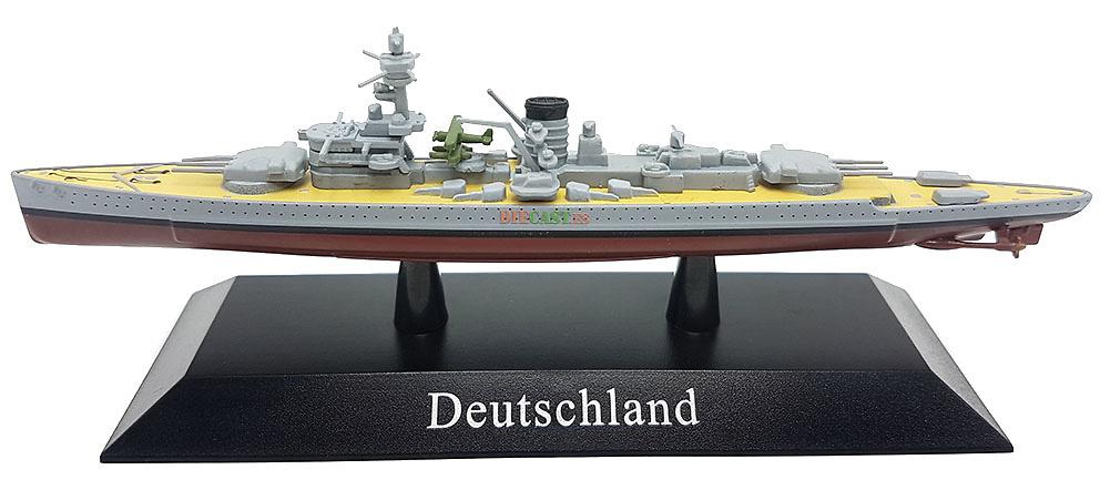 Buque Blindado Deutschland, Kriegsmarine, 1933, 1:1250, DeAgostini
