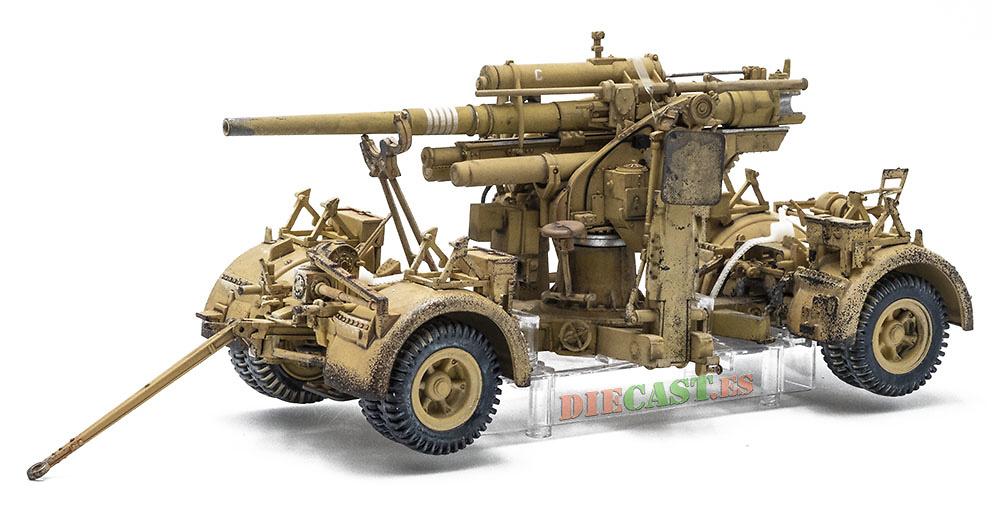 Cañón de 88mm Flak 36/37con remolque, Afrika Korps, El Alamein, 1942, 1:32, Forces of Valor