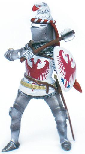 Caballero Medieval con porra, 1:18, Blue Box