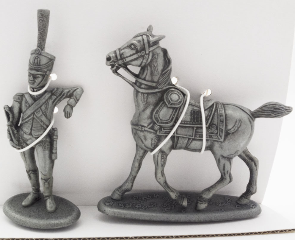 Caballo de Oficial de Artillería a Pie de la Guardia Imperial, Conductor de Tren de los Equipajes de la Guardia Imperial, 1:24, Atlas Editions