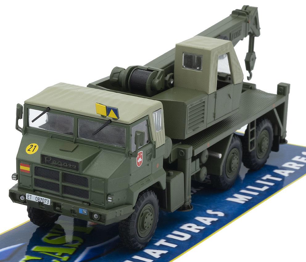 Camión Grúa Pegaso 7323, División Acorazada nº 1 Brunete, Ejército de Tierra, 1990, 1/43, Salvat