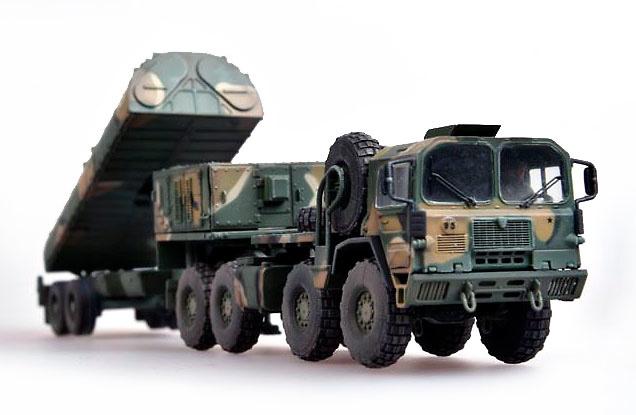 Camión Man M1014 con Tractor & BGM-109G Gryphon con Misil de Crucero, OTAN, 1991, 1:72, Modelcollect