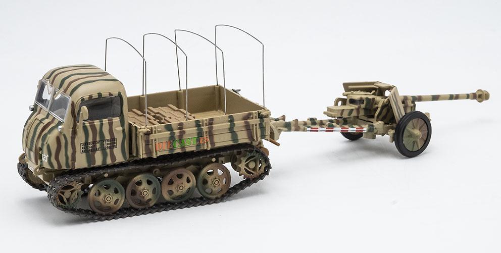 Camión Oruga Raupenschlepper Ost + Pak 40 de 75 mm, Alemania, 2ª G.M., 1:43, Atlas