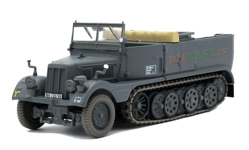 Camión Semioruga Ligero (leichter Zugkraftwagen) 3 t, SdKfz 11, Alemania, 1936-45, 1:43, Atlas