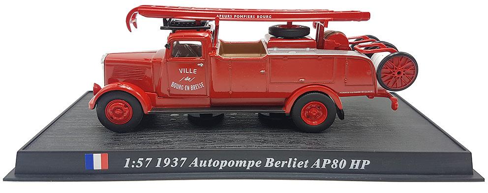 Camión de Bomberos Autopompe Berliet AP80, 1937 ,1:72, Atlas Editions