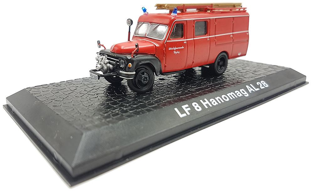 Camión de Bomberos LF8 Hanomag AL28, 1:72, Atlas Editions