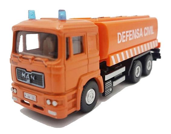 Camión de Defensa Civil, F2000 Man, 1:72, Editorial Sol90