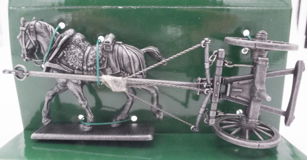 Carro Porta Cañón de Campo (12 Libras), Sistema Gribeauval, Caballo de Tiro, 1:24, Atlas Editions