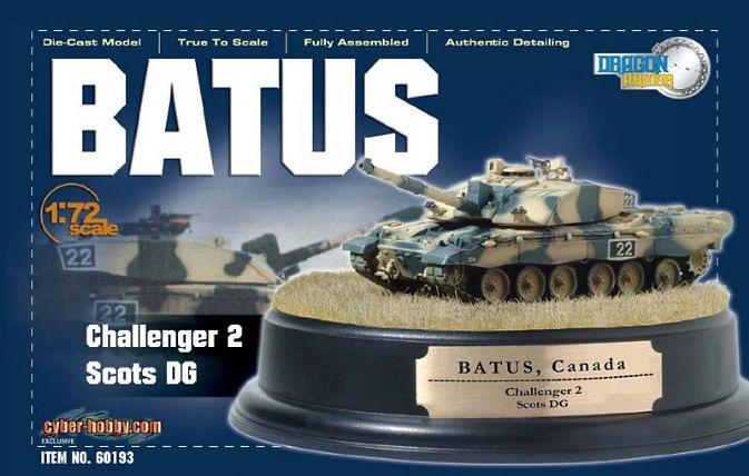 Challenger 2, B Sqn., Scots DG, BATUS, Canada + Diorama Base, 1:72, Dragon Armor