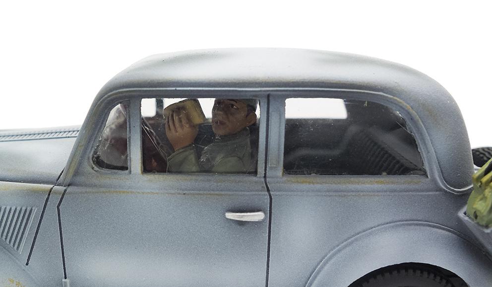 Coche de mando alemán y dos figuras, 1937, 1:30, Thomas Gunn