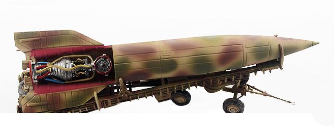 Cohete V2 c/remolque de transporte, Ejército Alemán, 1943, 1:72, PMA