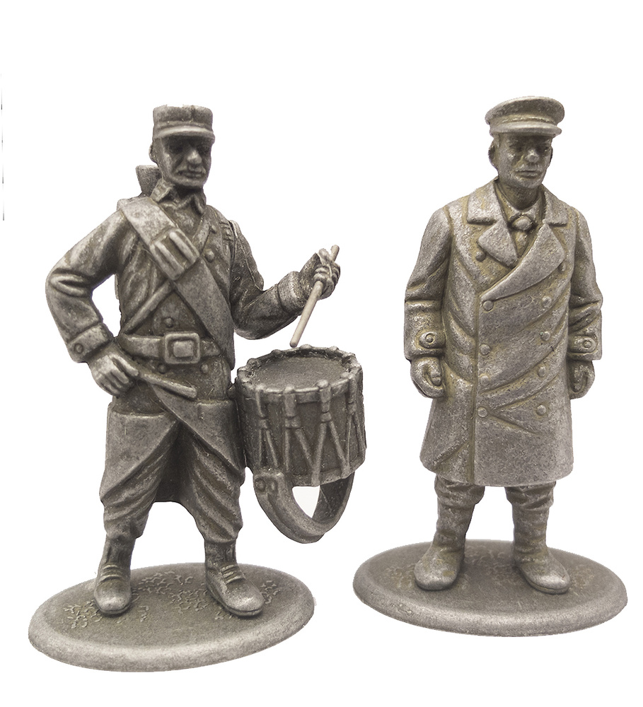 Conductor de Taxi y Tambor de Infantería, Francia, 1914, 1:24, Atlas Editions