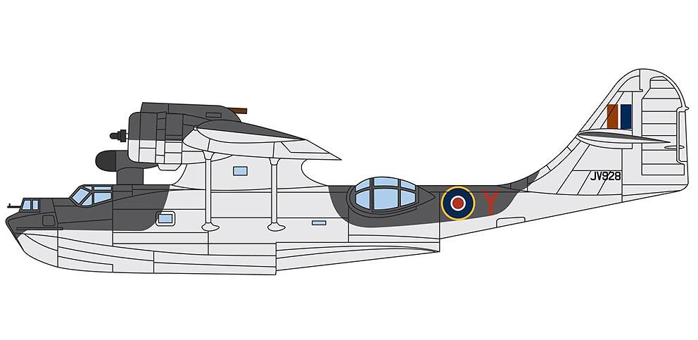 Consolidated Catalina IVA JV928 'Y', Flt/Lt John A. Cruickshank, RAF No.210 Squadron, Islas Shetland, Julio, 1944, 1:72, Corgi