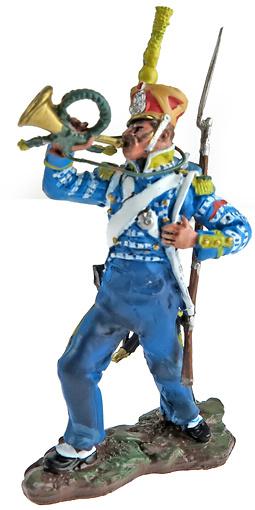 Corneta del 2º Regimiento de Húsares, Escuadrón de Élite, 1802, 1:32, Hobby & Work