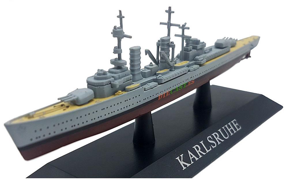 Crucero Ligero Karlsruhe, Kriegsmarine, 1927, 1:1250, DeAgostini