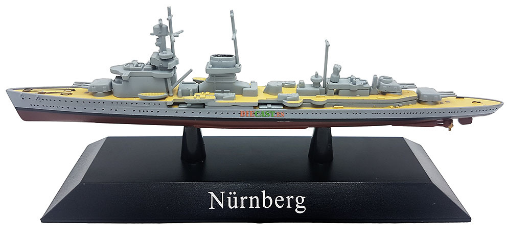 Crucero Ligero Nürnberg, Kriegsmarine, 1934, 1:1250, DeAgostini
