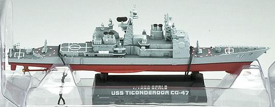 USS Ticonderoga CG-47, 1:1250, Easy Model