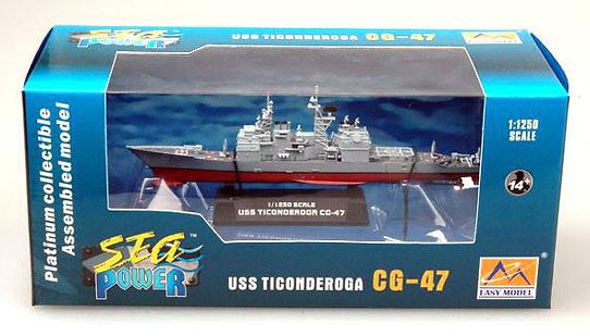 Crucero USS Ticonderoga CG-47, 1:1250, Easy Model