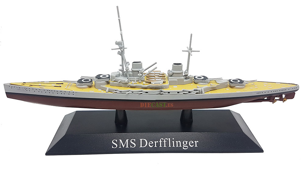Crucero de Batalla Derfflinger, Kaiserliche Marine, 1913, 1:1250, DeAgostini