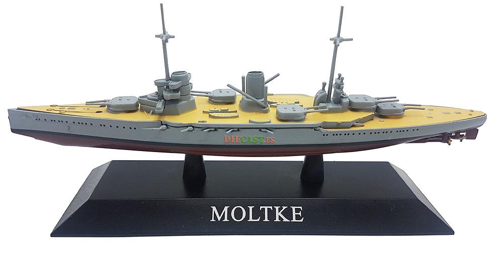 Crucero de Batalla Moltke, Kaiserliche Marine, 1911, 1:1250, DeAgostini