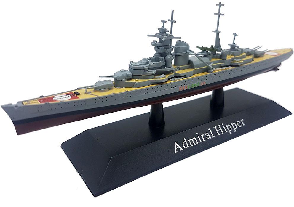 Cruero Pesado Admiral Hipper, Kriegsmarine, 1939, 1:1250, DeAgostini