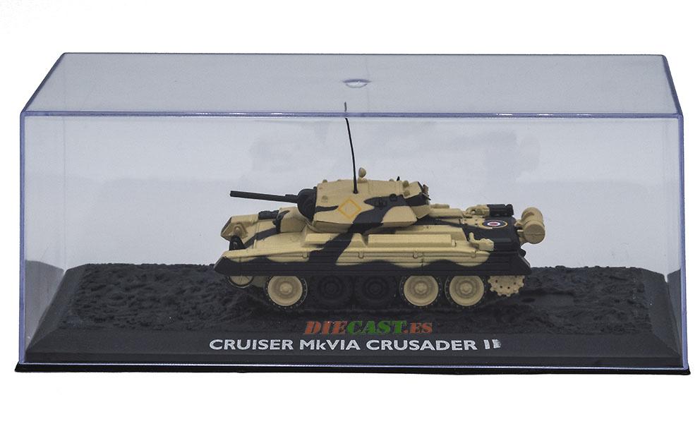 Cruiser MkVIA Crusader II, Ejército Británico, Norte de Africa, 1941, 1:72, Atlas Editions