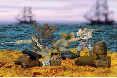 Cuatro piratas más accesorios, 1:32, Forces of Valor