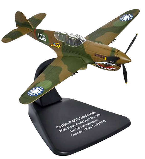 Curtiss P40E Warhawk, piloto Mayor David Lee, 2nd Pursuit Squadron; Baoshan, China, 1942, 1:72, Oxford