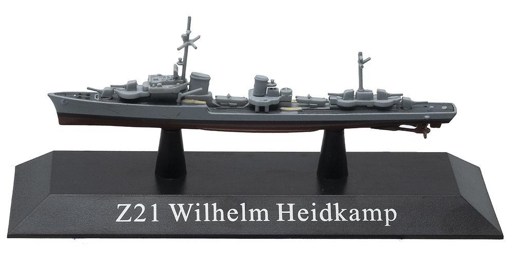Destructor Tipo 36, Z21 Wilhelm Heidkamp, Kriegsmarine, 1939, 1:1250, DeAgostini
