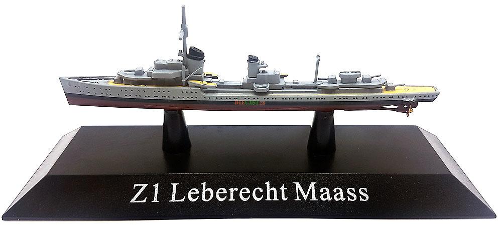 Destructor Z1 Leberecht Maass, Kriegsmarine, 1935, 1:1250, DeAgostini